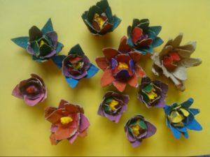 fiori di carta dall'alto